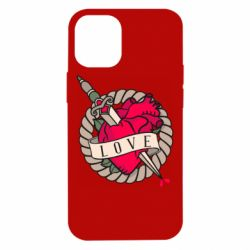 Чехол для iPhone 12 mini Heart with sword