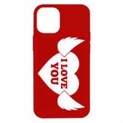 Чохол для iPhone 12 mini Heart with wings