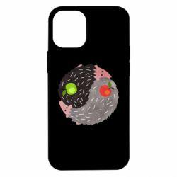 Чохол для iPhone 12 mini Hedgehogs yin-yang