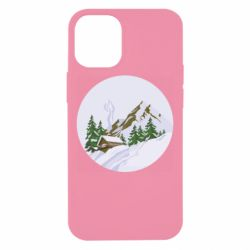 Чехол для iPhone 12 mini House in the snowy mountains
