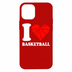 Чохол для iPhone 12 mini I love basketball