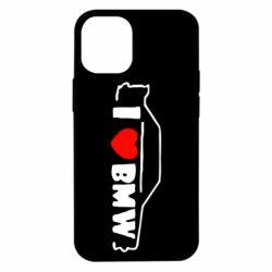 Чехол для iPhone 12 mini I love BMW