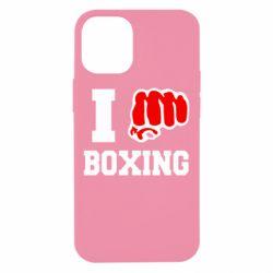 Чехол для iPhone 12 mini I love boxing