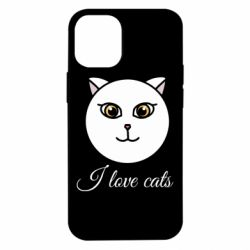 Чохол для iPhone 12 mini I love cats art