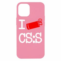 Чехол для iPhone 12 mini I love CS Source