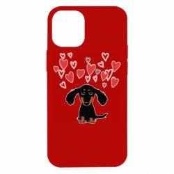 Чохол для iPhone 12 mini I love dachshund