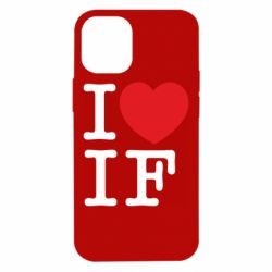 Чехол для iPhone 12 mini I love IF