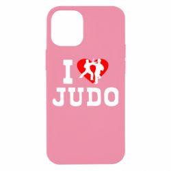 Чехол для iPhone 12 mini I love Judo