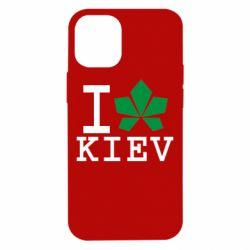 Чохол для iPhone 12 mini I love Kiev - з листком