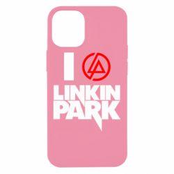 Чехол для iPhone 12 mini I love Linkin Park