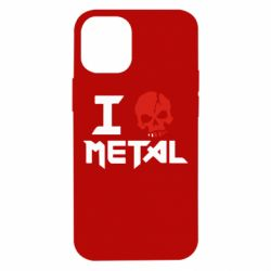 Чехол для iPhone 12 mini I love metal