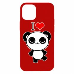 Чохол для iPhone 12 mini I love Panda