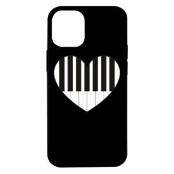Чехол для iPhone 12 mini I love piano