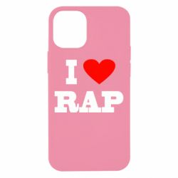 Чехол для iPhone 12 mini I love rap