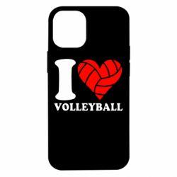 Чохол для iPhone 12 mini I love volleyball