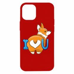 Чехол для iPhone 12 mini I love you corgi