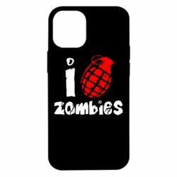Чехол для iPhone 12 mini I love zombies