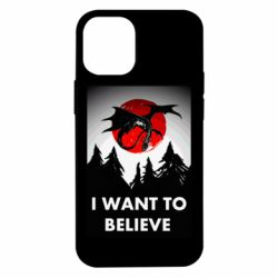Чехол для iPhone 12 mini I want to BELIEVE poster