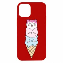 Чехол для iPhone 12 mini Ice cream kittens