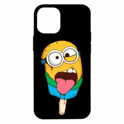 Чехол для iPhone 12 mini Ice cream minions