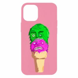 Чехол для iPhone 12 mini Ice cream with face