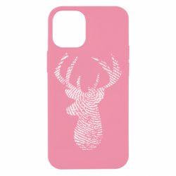 Чохол для iPhone 12 mini Imprint of human skin in the form of a deer