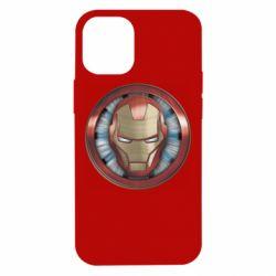 Чохол для iPhone 12 mini Iron man helmet wood texture
