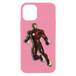 Чохол для iPhone 12 mini Iron man with the shadow of the lines