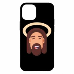 Чехол для iPhone 12 mini Jesus flat vector