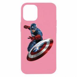 Чехол для iPhone 12 mini Капитан Америка