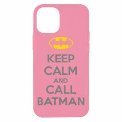 Чехол для iPhone 12 mini KEEP CALM and CALL BATMAN