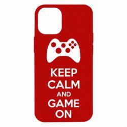 Чехол для iPhone 12 mini KEEP CALM and GAME ON