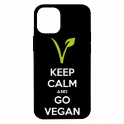 Чехол для iPhone 12 mini Keep calm and go vegan