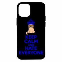 Чехол для iPhone 12 mini KEEP CALM and HATE EVERYONE