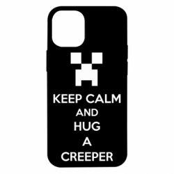 Чехол для iPhone 12 mini KEEP CALM and HUG A CREEPER