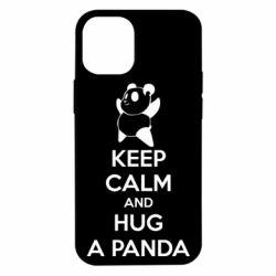 Чехол для iPhone 12 mini KEEP CALM and HUG A PANDA