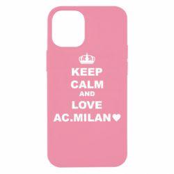 Чохол для iPhone 12 mini Keep calm and love AC Milan