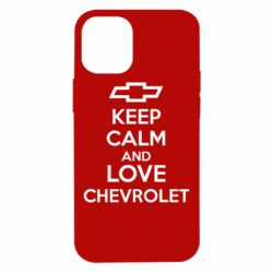 Чохол для iPhone 12 mini KEEP CALM AND LOVE CHEVROLET