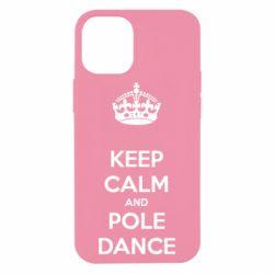 Чехол для iPhone 12 mini KEEP CALM and pole dance