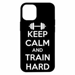 Чехол для iPhone 12 mini KEEP CALM and TRAIN HARD