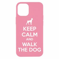 Чохол для iPhone 12 mini KEEP CALM and WALK THE DOG
