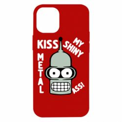 Чехол для iPhone 12 mini Kiss metal