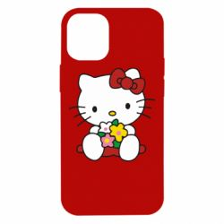 Чехол для iPhone 12 mini Kitty с букетиком