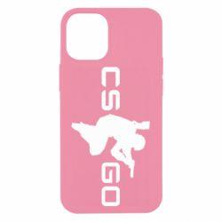 Чехол для iPhone 12 mini Контр Страйк, логотип и игрок