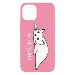 Чехол для iPhone 12 mini Кот и надпись Не сегодня
