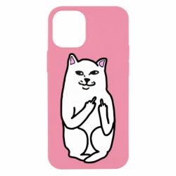 Чехол для iPhone 12 mini Кот с факом