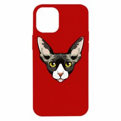 Чохол для iPhone 12 mini Котя сфінкс жовті очі