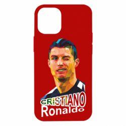 Чохол для iPhone 12 mini Крістіано Роналдо, полігональний портрет