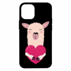 Чохол для iPhone 12 mini Lama with heart