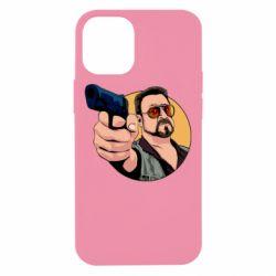 Чохол для iPhone 12 mini Лебовськи з пістолетом